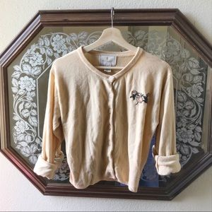 Vtg Button Up Sweater